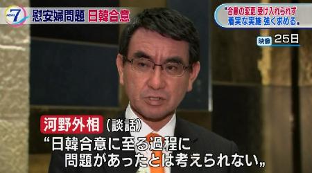 「『最終的かつ不可逆的』なものとして着実な実施を求めます」河野太郎外相談話全文
