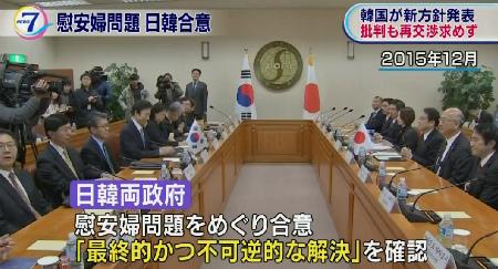 日韓両政府が合意に達したのは、2015年の12月 慰安婦問題の最終的かつ不可逆的な解決を確認しました