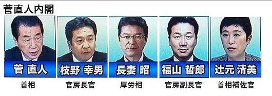 【悲報】立憲民主党と菅直人内閣の顔ぶれが完全に一致wwwww