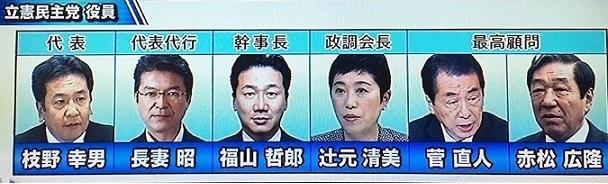 【悲報】立憲民主党と菅直人内閣の顔ぶれが完全に一致wwwww -