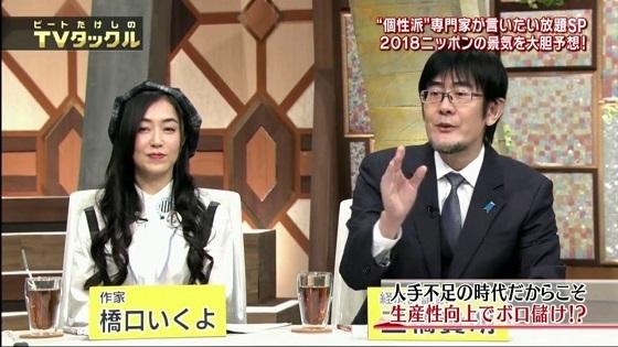 ビートたけしのTVタックル 2018年1月7日三橋貴明