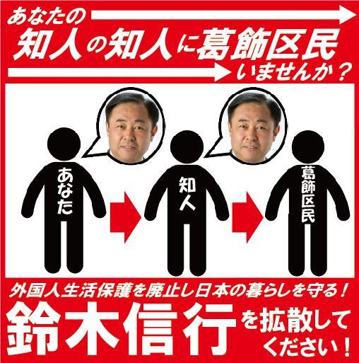 ■鈴木信行へのご支援をお願いします。外国人生活保護廃止!鈴木信行を葛飾区議会に送ろう!韓国人「日本は外国人に生活保護を出すべきだ」