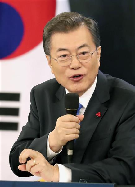 「日本が心から謝罪するなどし、被害者が許せば解決」韓国の文在寅大統領の発言の要旨