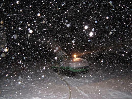 天然雪と・・・