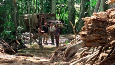 『恐怖の報酬【オリジナル完全版】』 南米のジャングルで撮影された作品。この状況では大スターが出演を辞退するのもよくわかる。