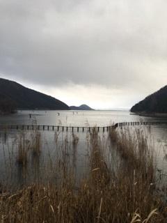 琵琶湖の先っぽ