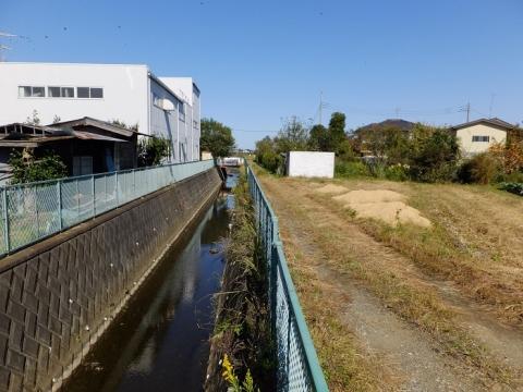 上川原浦橋下流の排水路