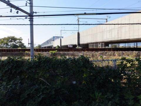 JR相模線と新幹線交差
