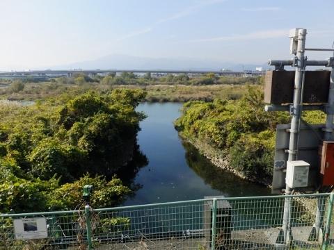 海老名分水路排水樋管吐口