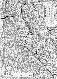 相模原畑かん用水路西幹線平面図