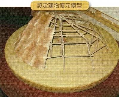 住居状遺構の想定建物復元模型