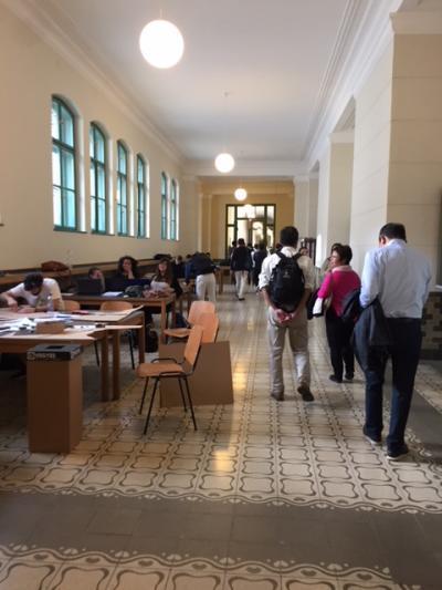 ブタベスト工科大学の廊下