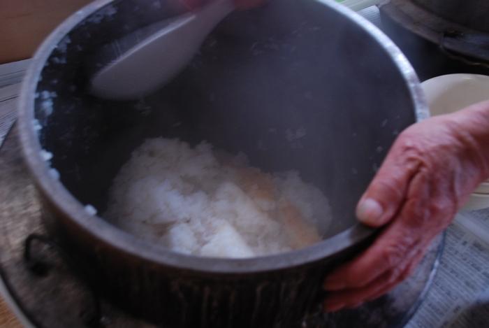 釜で炊いたごはん17