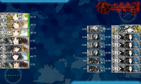 E-4戦力2夜終了