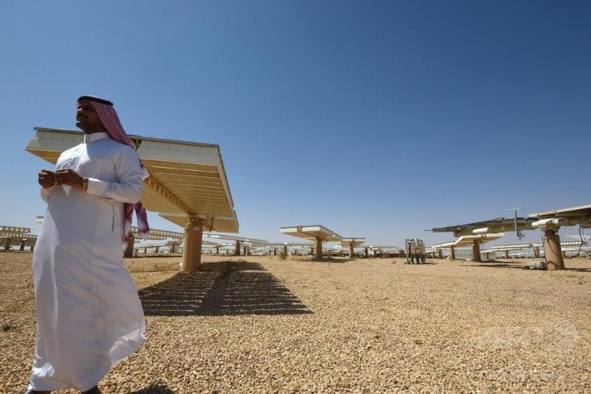 サウジアラビアのリヤド北部にある太陽光発電所