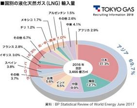 2017年国別LNG輸入量