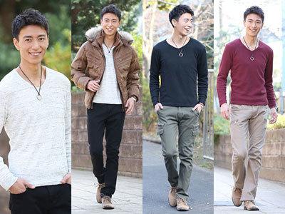 秋ファッション メンズ 長袖tシャツ