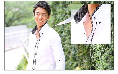 メンズ 二枚襟シャツ 人気 モテシャツ