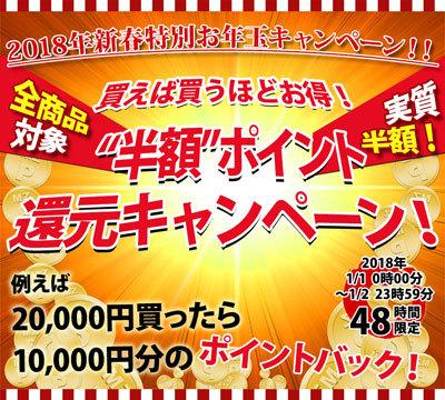 メンズスタイル 新春 お年玉キャンペーン 半額ポイント
