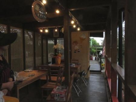 柳川川下り店アオスジアゲハ 066