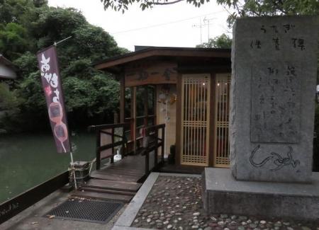 柳川川下り店アオスジアゲハ 071