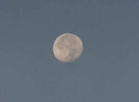 筑後川の朝日とお月さん 057