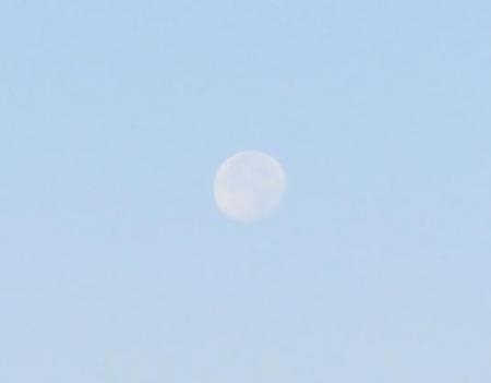 筑後川の朝日とお月さん 118