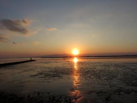 ジョウビタキょう多良岳夕陽 089