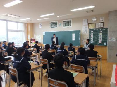 20181116美川中学車椅子1