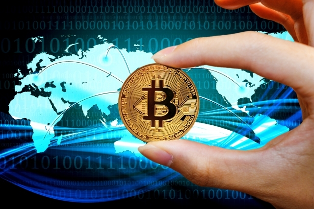 bitcoin and hand