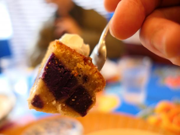 紫芋のミニケーキ