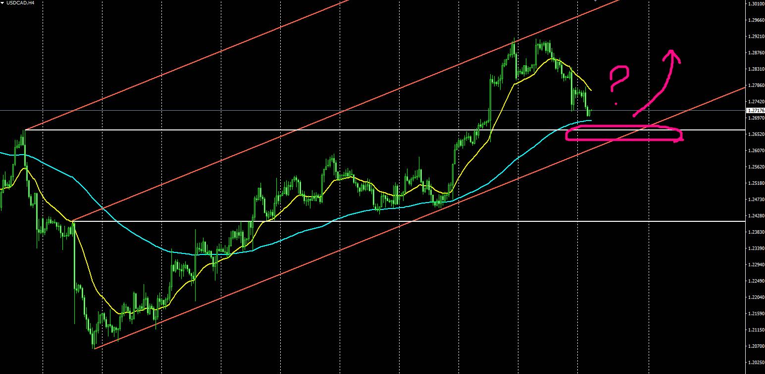 ドル/カナダ4時間足チャート
