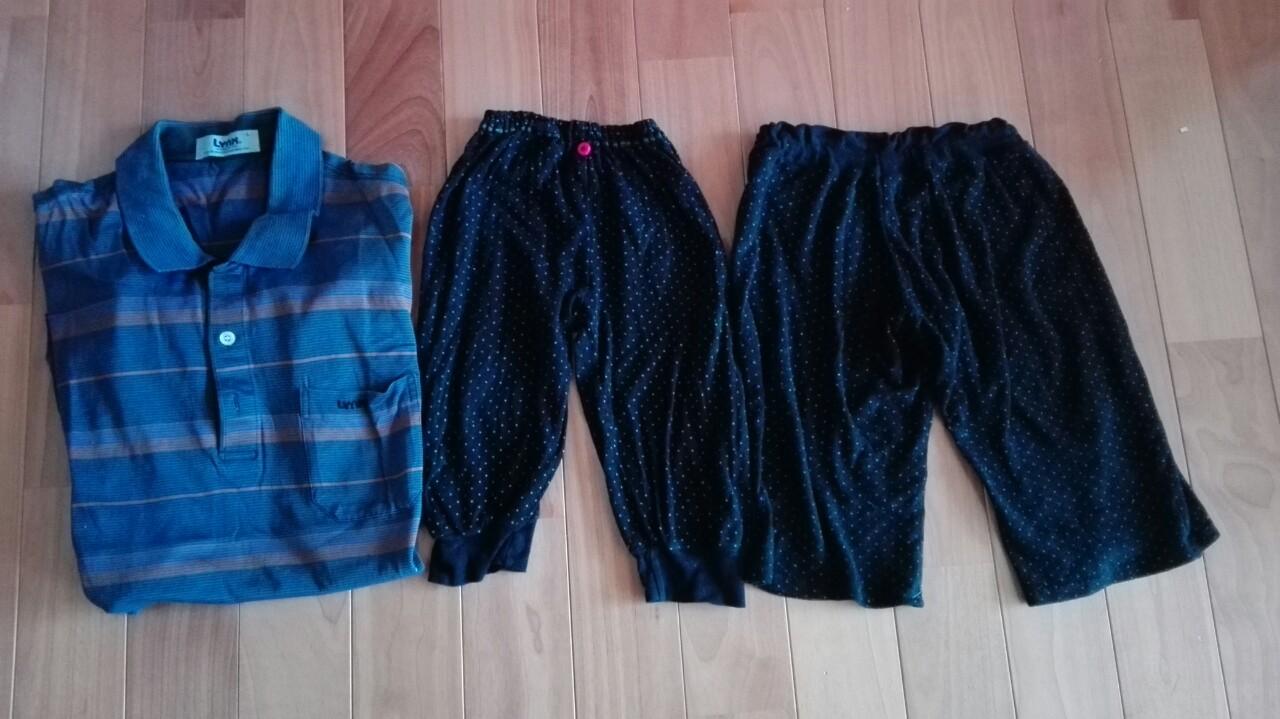 リメイクのリメイク!子どものパジャマズボンをサイズアップする