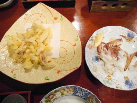天ぷらと塩焼き