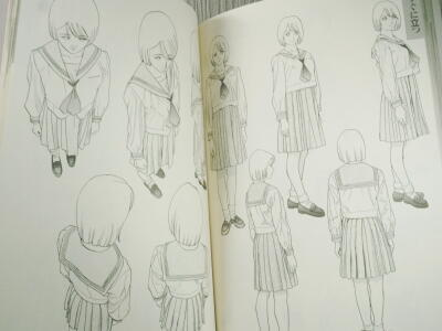 28・衣服の描き方スーツセーラー服篇・5