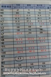 血液検査10月19日1