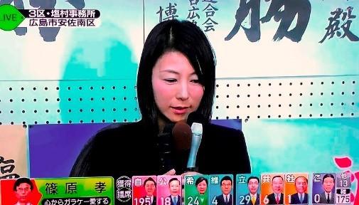 塩村文夏 衆院選落選