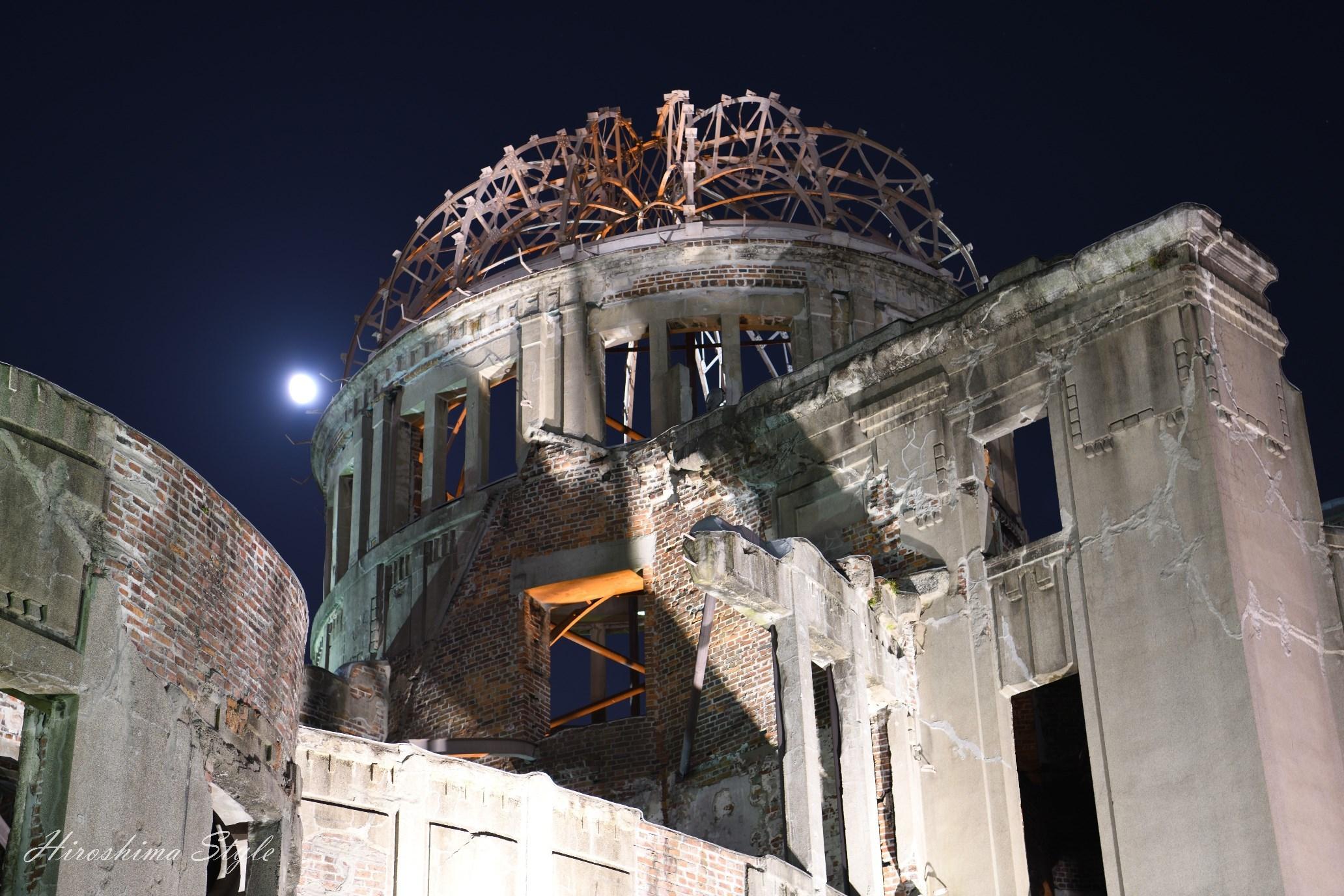 原爆ドーム 夜景ライトアップ 01