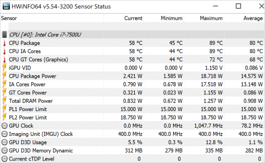 Spectre x360 13-ac008TU_CINEBENCH 15_CPU_temp26_b_core i7-7500Uの温度