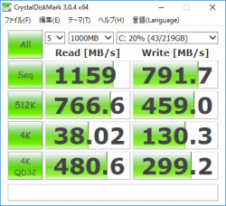 EliteBook x360 1030 G2_CrystalDiskMark3_256GB SSD_03