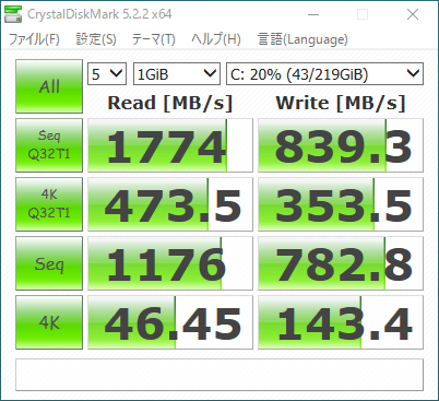 EliteBook x360 1030 G2_CrystalDiskMark5_256GB SSD_01