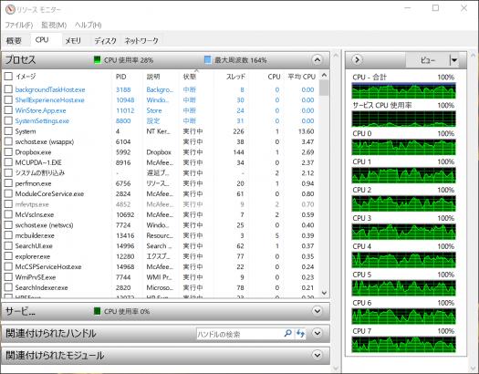 HP spectre x360 13-ae000_リソースモニター_04