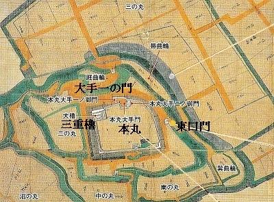 白石城下御絵図(天和3年)宮城県図書館蔵