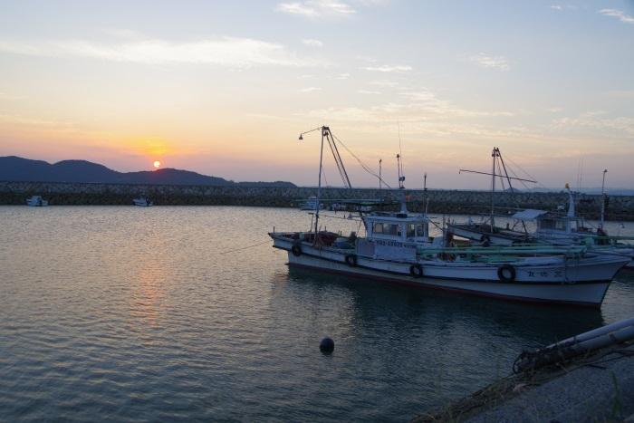秋穂湾の夕日
