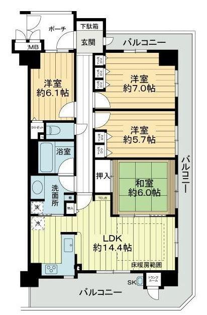 2780 ユニ・アルス洛西プレジオ2階部分 88.00(大京穴吹不動産京都店)