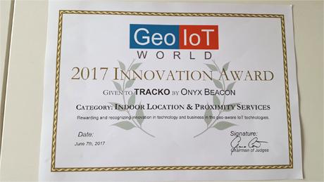 「TRACKO」が Best Indoor Location & Proximity Servicesを受賞!