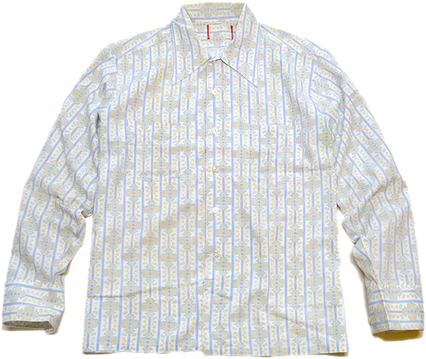 長袖柄シャツ画像メンズレディーススタイルコーデ@古着屋カチカチ03