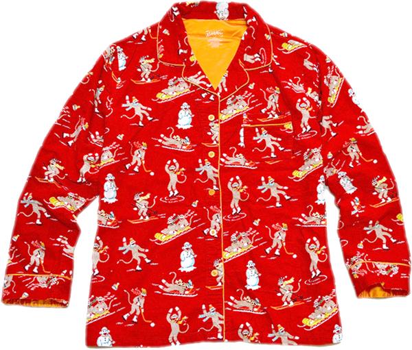 長袖柄シャツ画像メンズレディーススタイルコーデ@古着屋カチカチ05