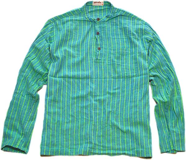 長袖柄シャツ画像メンズレディーススタイルコーデ@古着屋カチカチ06