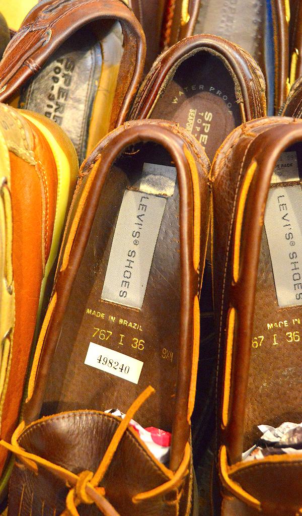 レザーデッキシューズ革靴画像メンズレディーススタイルコーデ@古着屋カチカチ01